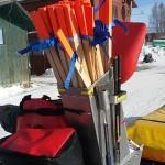 Utensilios de nieve en la Iditarod Trail