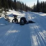 Acampada de Antonio en la Iditarod Trail