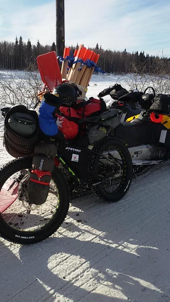 Fat bike de Antonio de la Rosa en la iditarod Trail