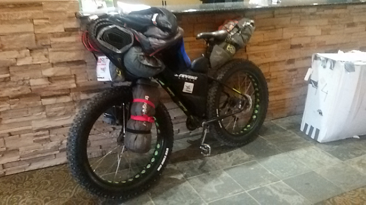 Fat bike Stevens de Antonio de la Rosa