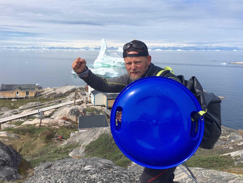 Antonio de la Rosa vikingo en Groenlandia