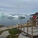 Casas y glaciar en Ilulissat