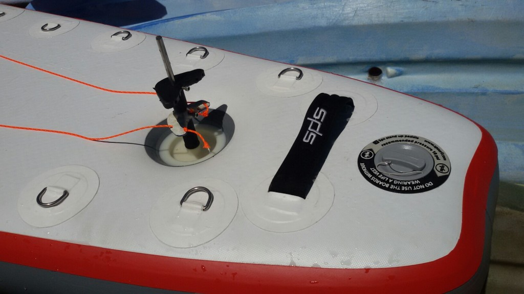 Detalle de la tabla de paddle surf de Antonio de la Rosa