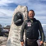 Antonio de la Rosa haciendo turismo en Ilulissat