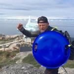 Antonio de la Rosa como un vikingo en Groenlandia