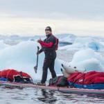 Antonio de la Rosa saludo al inicio de su reto en el Círculo Polar Ártico
