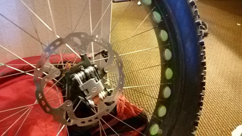 La rueda de mi fat bike