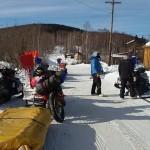 En un control de la Iditarod Trail