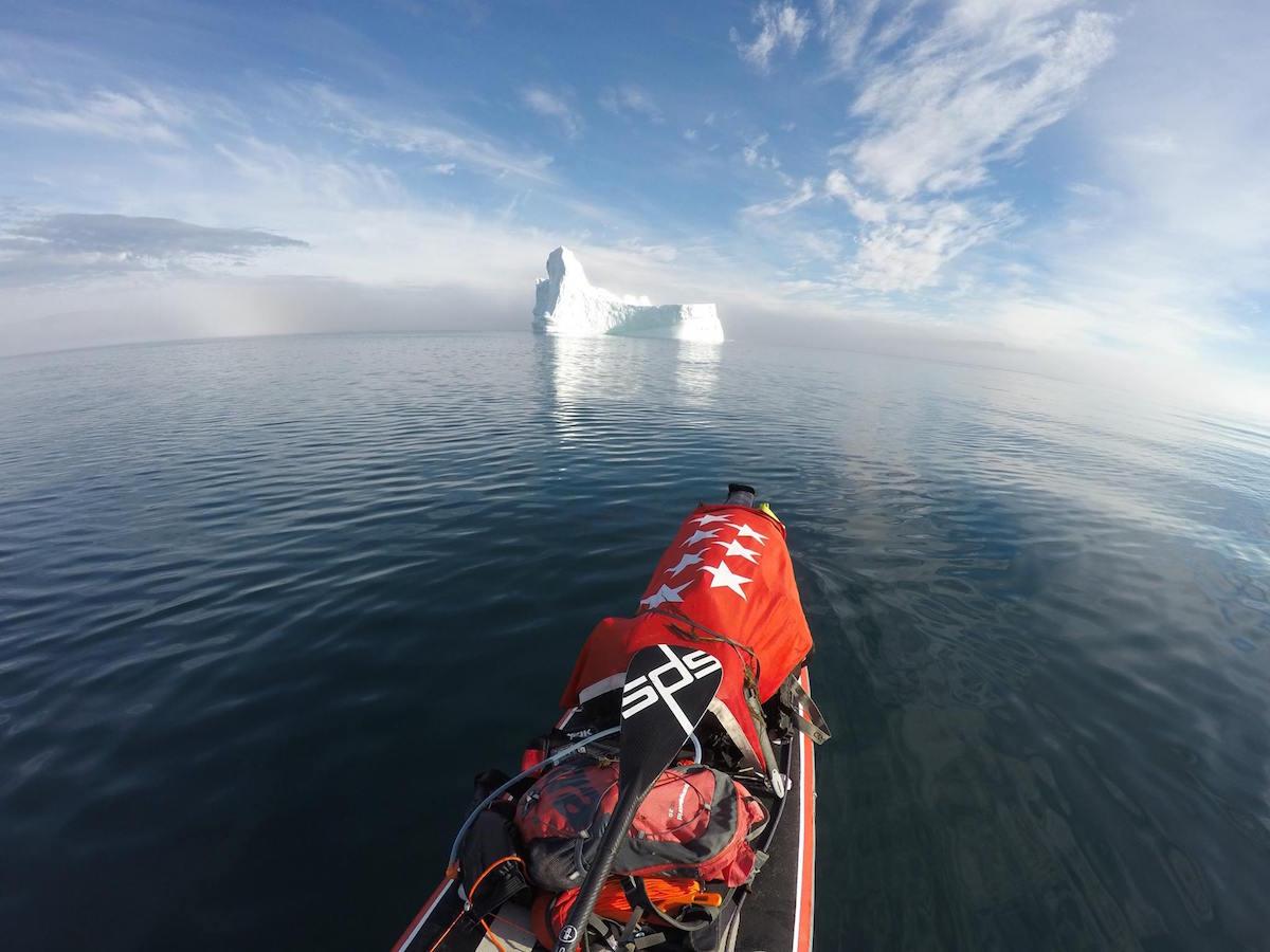 Dificultades de un aventurero en paddle-surf en Groenlandia